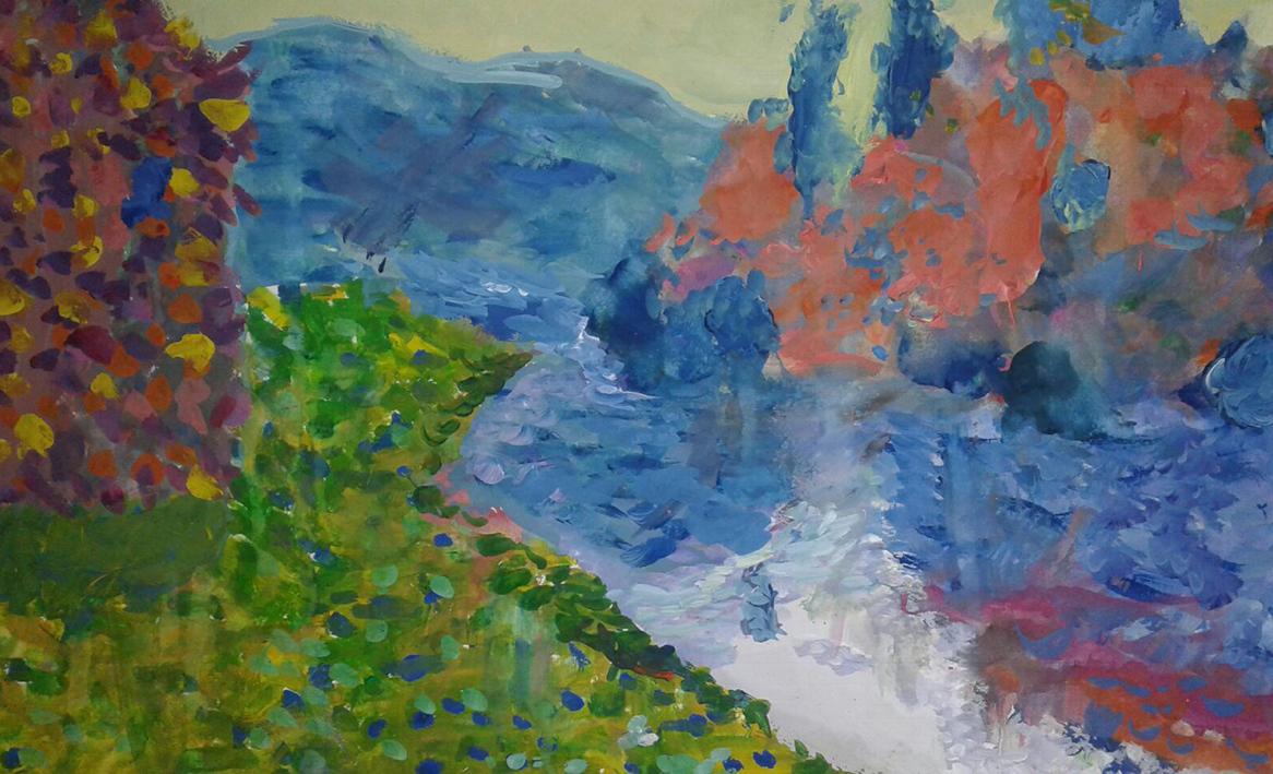 Береги Сени в Женфоссе. Ясна погода